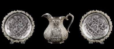 American Sterling Silver Candy Dishes & Pitcher