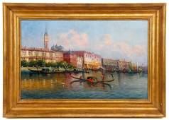 Karl Kaufmann Venetian Canal Scene OC