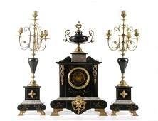 Napoloen III Style 3 Pc. Garniture Set