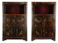 Pair of Chinese Shanxi Scholar's Cabinets