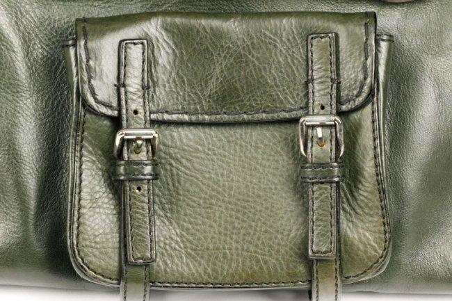 Chloe Edith Dark Green Leather Handbag w/ Dust Bag : Lot 202