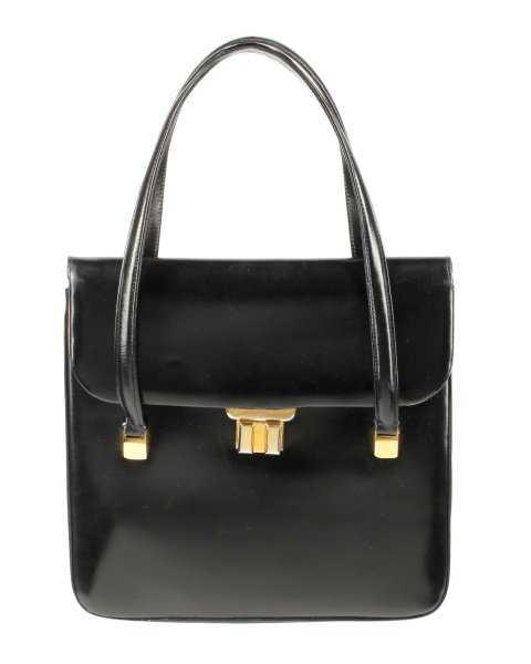 47c67bf0f9bb Vintage 1950s/60s Black Leather Gucci Handbag
