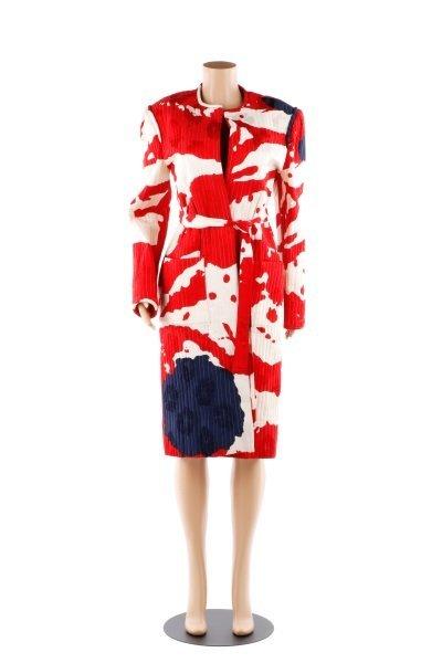 Vintage Michael Novarese Long Silk Jacket