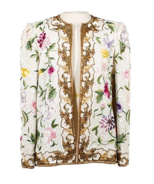 Michael Novarese Embroidered & Beaded Jacket
