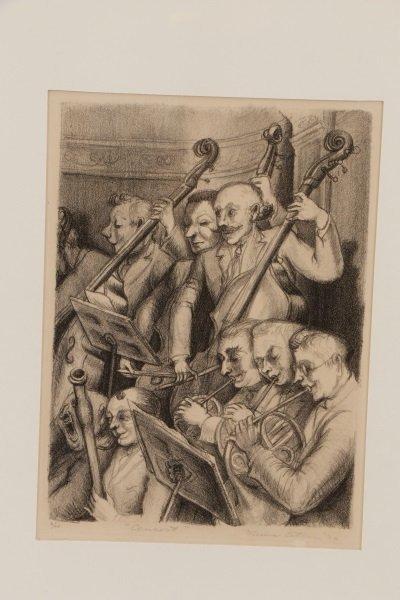 "Minna Citron, ""Concert""-1933, Litho, Edition of 20 - 3"