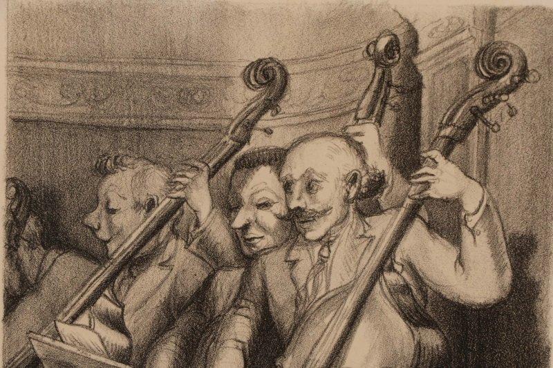 "Minna Citron, ""Concert""-1933, Litho, Edition of 20 - 4"