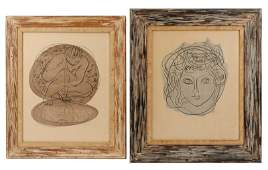2 Hans Erni Signed Greek Mythological Lithos, 8/50