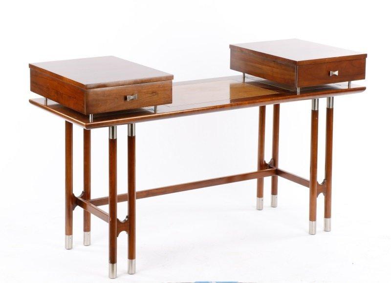 Mid Century Modern Style Two Drawer Vanity or Desk