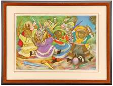 Jean Charlot Toy Fiesta Signed Lithograph