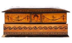Museum Quality Sorrento Ware Ladies Jewelry Box