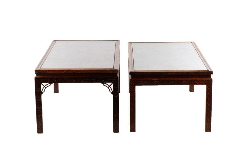 Two Similar Chinese Inlaid Low Tables