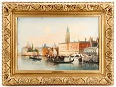 Henri Carnier Venetian Canal Scene Signed OC