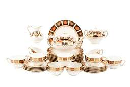 37 Pc Royal Crown Derby for Tiffany  Co China Set