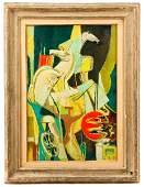 Jean de Botton, Le Char du Soleil, Oil on Canvas