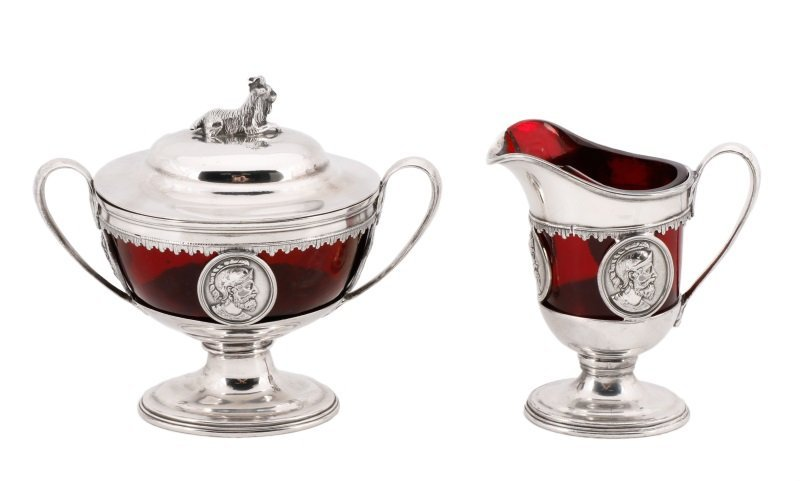 Group of 2 Reed & Barton Silverplate Items, 19th C
