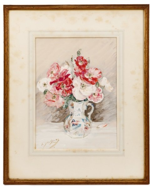 Albert Somerville Shanks Signed Floral Watercolor
