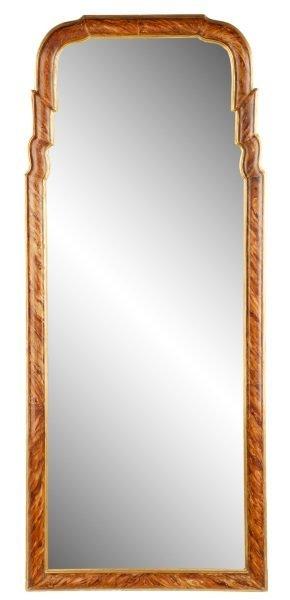 Dorothy Draper Style Faux Bois Wall Mirror