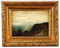 Carl Philipp Weber Signed Oil Seascape at Dusk