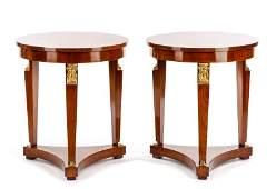 Pair of Mid Century Empire Style Guerridons Baker