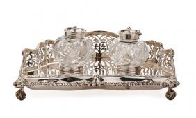 C.1905 English Sterling Silver Standish, Howson