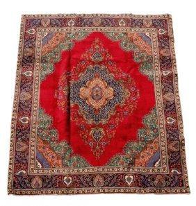 "Hand Woven Persian Tabriz Carpet - 9' 5"" X 12' 7"""
