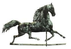 Harris  Co 19th C Blackhawk Horse Weathervane