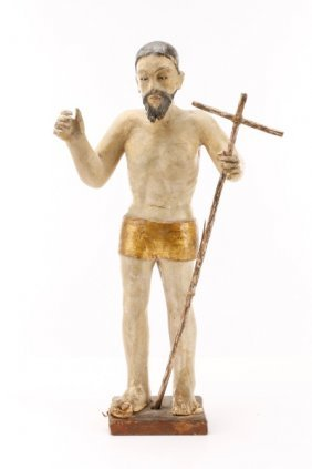 18th C. Spanish Colonial Santo Figure Of Christ
