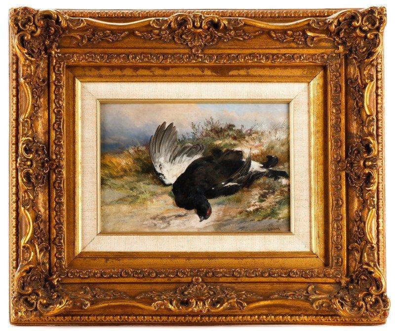 James Hardy II Signed Hunting Oil, Game Bird
