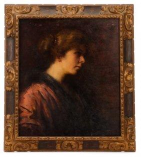 Elizabeth Piutti-barth, Portrait Of A Lady, Signed