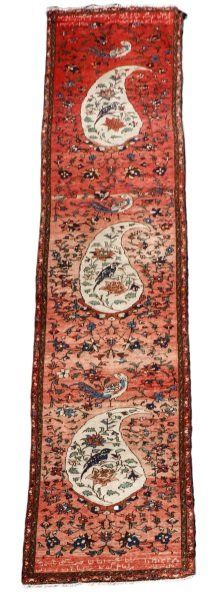 "Hand Woven Persian Hamadan Area Rug 3' 6"" x 19' 5"""