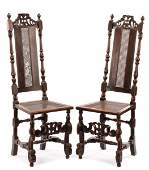 Pair of William  Mary Period Side Chairs 17th C