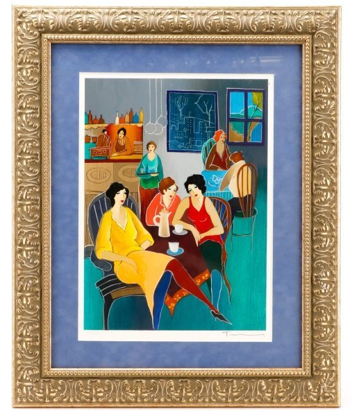 """Tarkay Signed Lithograph, """"Friends to Confide In"""""""