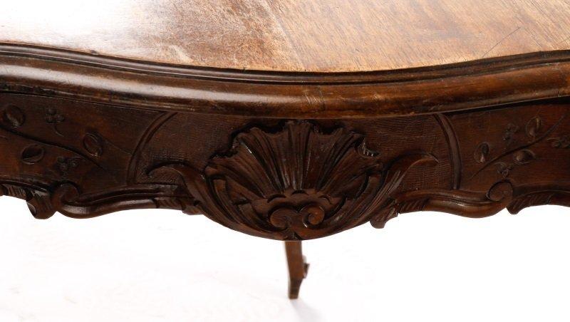 French Louis XV Style Walnut Table w/Single Drawer - 9