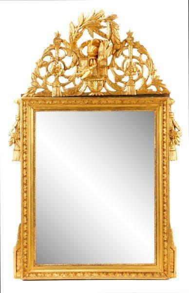 Louis XVI Style Giltwood Mirror, 19th C.