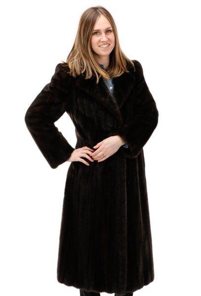 Blackglama Ladies Long Ranch Mink Coat, Size 4