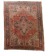 Hand Woven Persian Heriz Room Size Rug