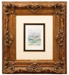 "H. Claude Pissarro Signed Oil On Paper, ""neant"""