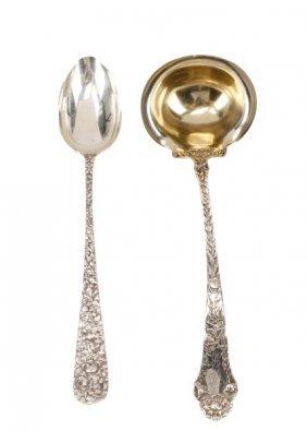 2 Sterling Silver Serving Spoons: Stieff & Gorham