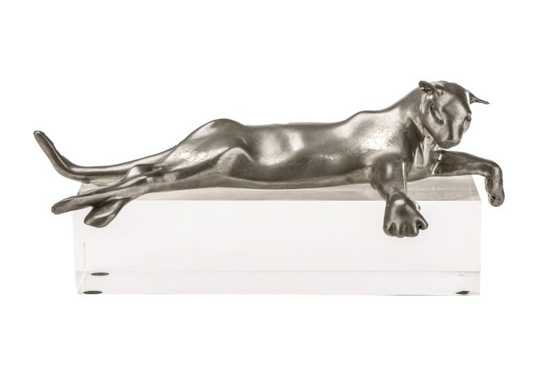 Castor Cooper, Pewter Lioness With Lucite Base