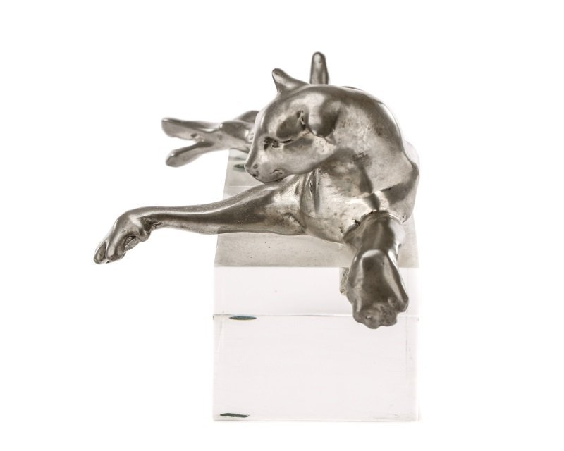 Castor Cooper, Pewter Lioness With Lucite Base - 5