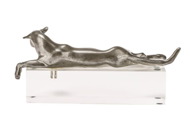 Castor Cooper, Pewter Lioness With Lucite Base - 6