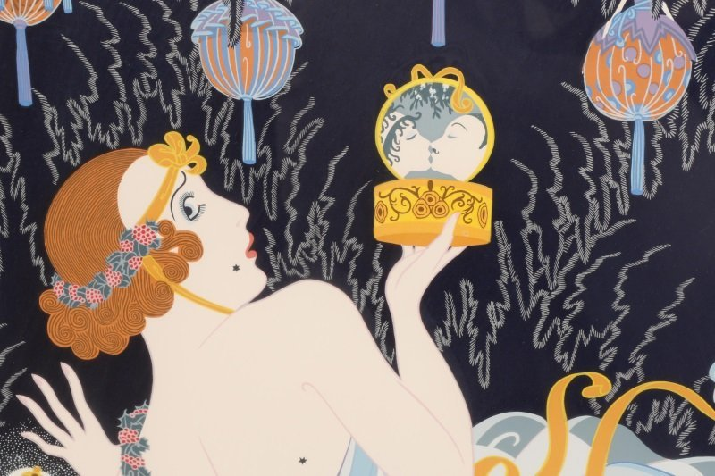 "Erté, ""Stolen Kisses"", Limited Edition Serigraph - 5"