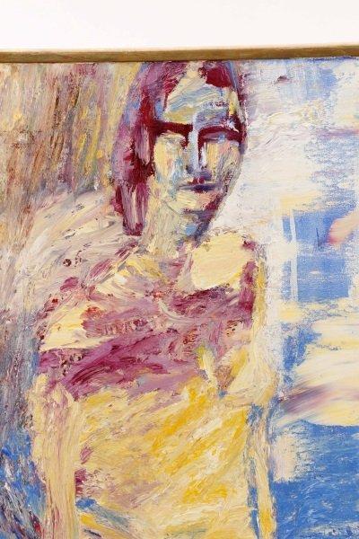 """Elizabeth Cain, """"Bathing With Buddha"""", Oil, 1985 - 3"""