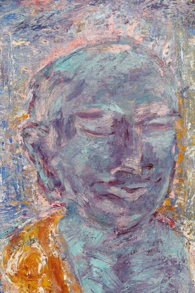 """Elizabeth Cain, """"Bathing With Buddha"""", Oil, 1985 - 5"""