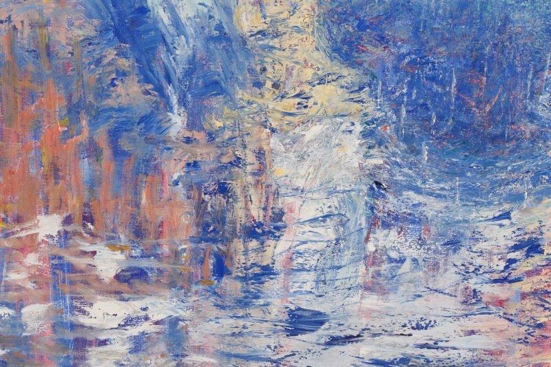 """Elizabeth Cain, """"Bathing With Buddha"""", Oil, 1985 - 6"""