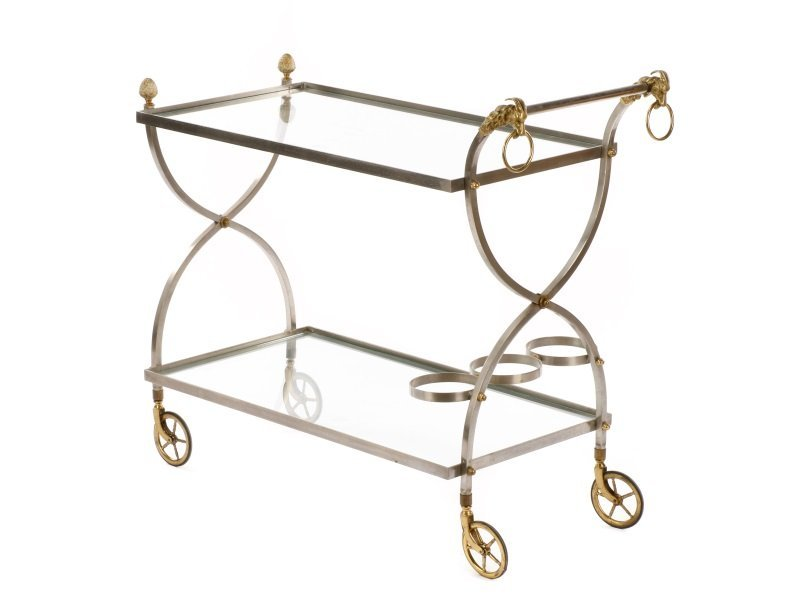 Mid Century Modern Two-Tier Bar Cart - 2