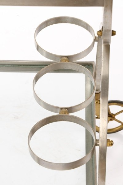 Mid Century Modern Two-Tier Bar Cart - 6