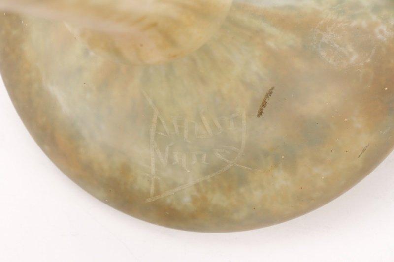 Impressive Daum Nancy Mottled Art Glass Vase - 2