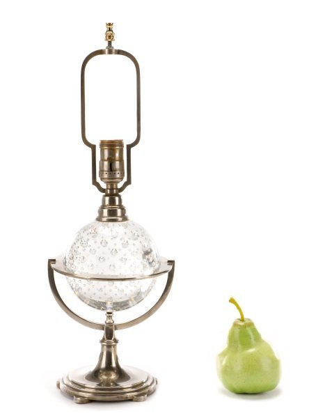 Controlled Bubble Glass Table Lamp, Steuben (Attr) - 9