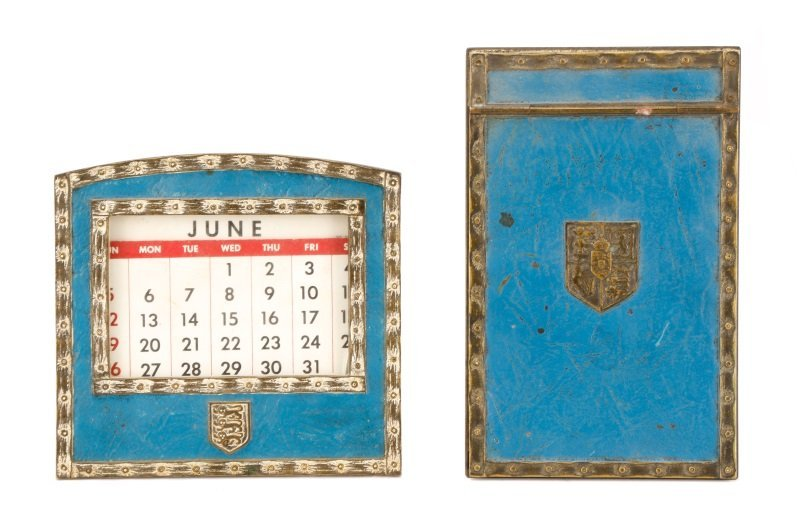 Tiffany Studios Heraldic Desk Calendar & Memo Pad